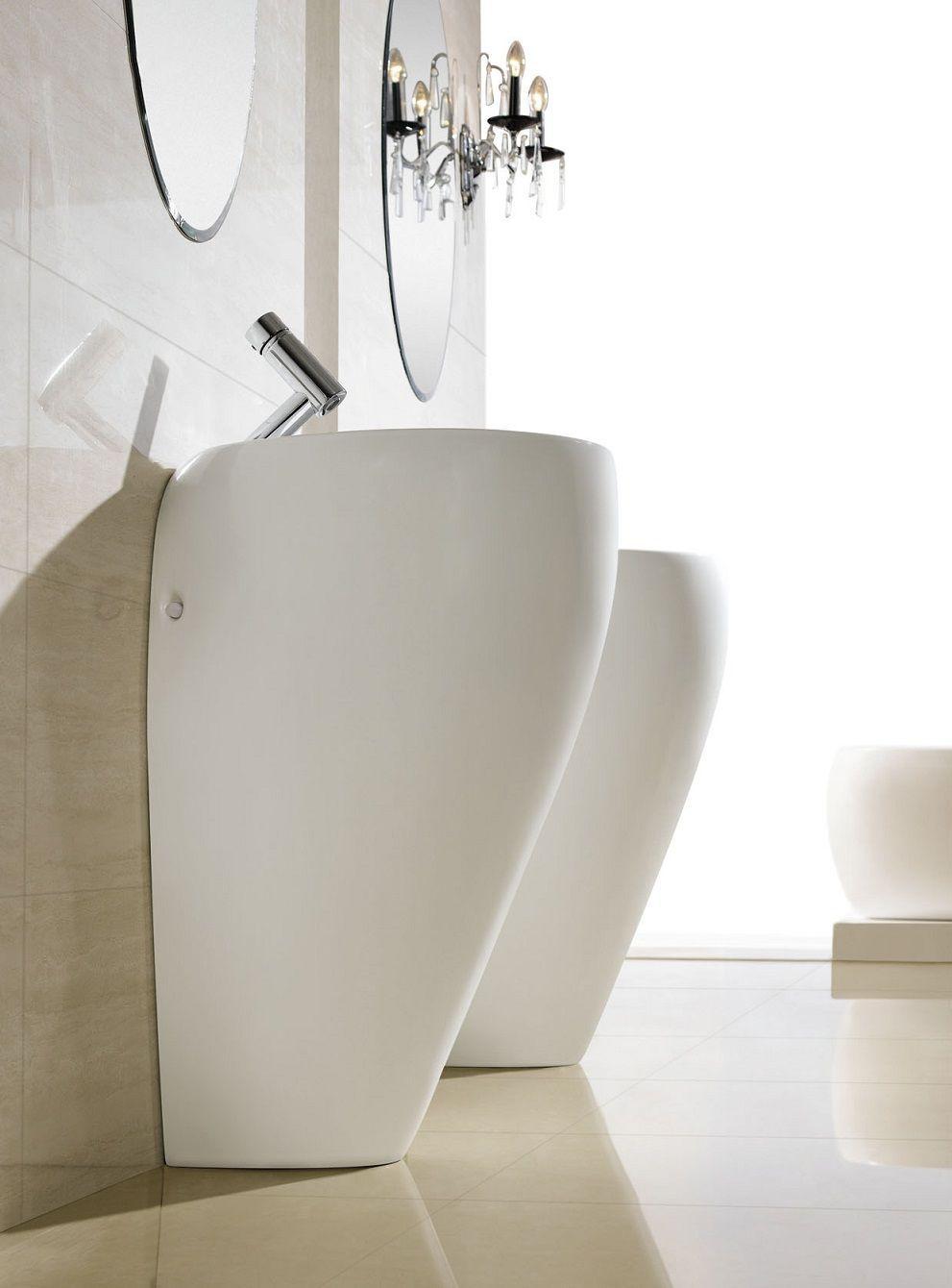 Modern Bathroom Pedestal Sink - Cerchio  Pedestal sink, Modern