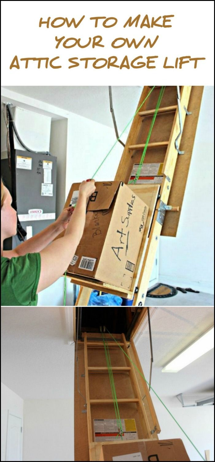 This Featured Diy Project Is A Simple Build That Works For Those With Pull Down Attic Ladders That Have Straight S Attic Storage Attic Stairs Diy Attic Remodel