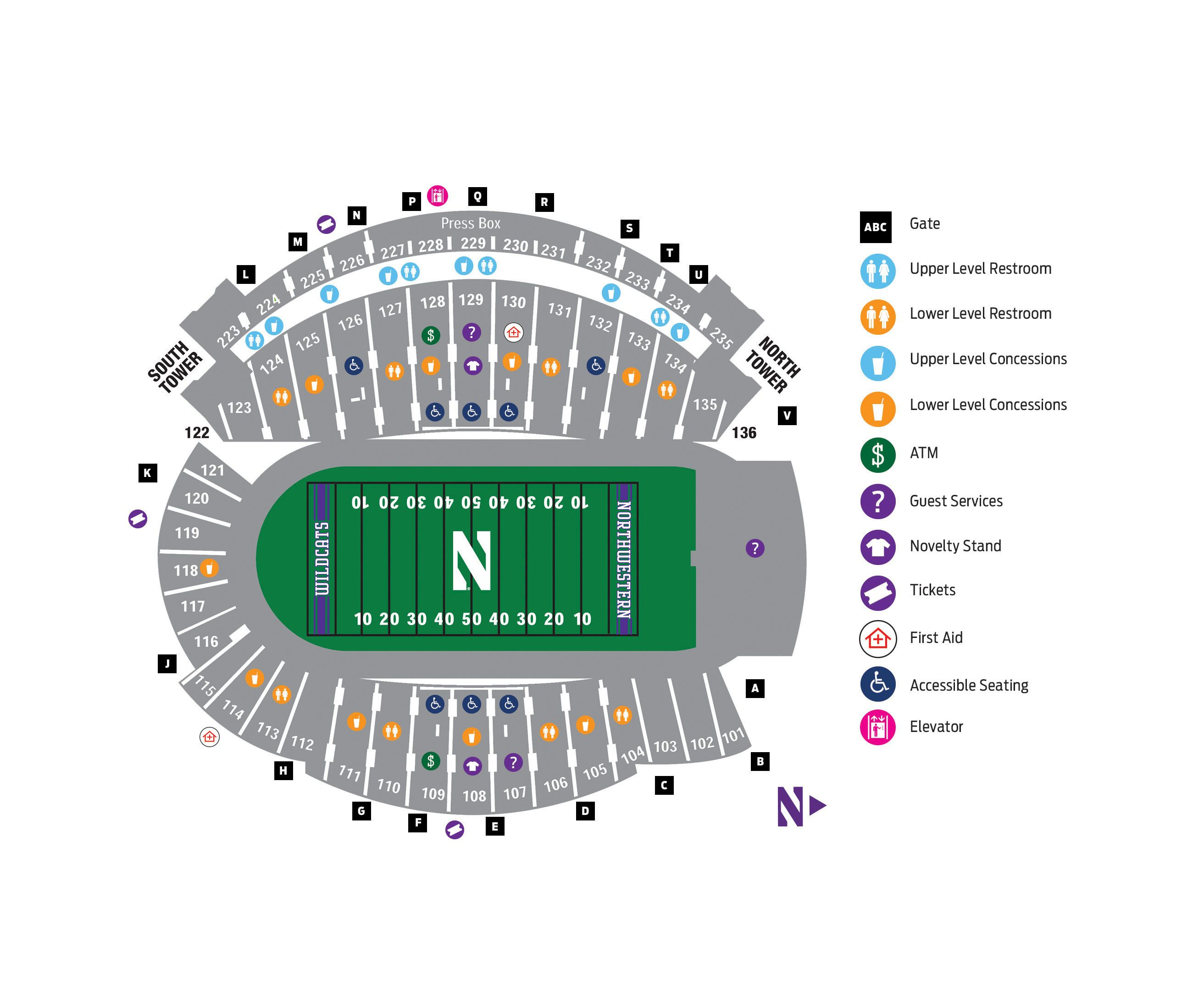 northwestern university football stadium seating chart Google Search Stadiums I have sat in Pinterest