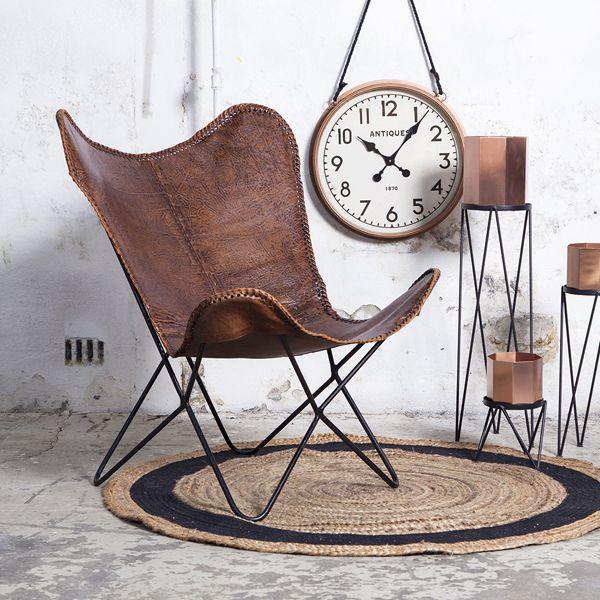 Schmetterlings Sessel Vintage Leder Cognac Auswahl 1 X Schmetterlings Schmetterling Stuhl Sessel Lounge Stuhl