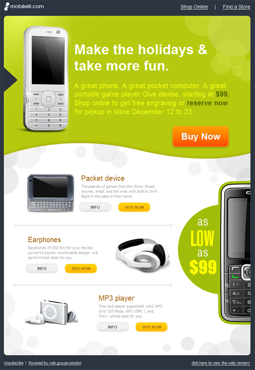 Email marketing archives beautiful email newsletters for Newsletter design inspiration