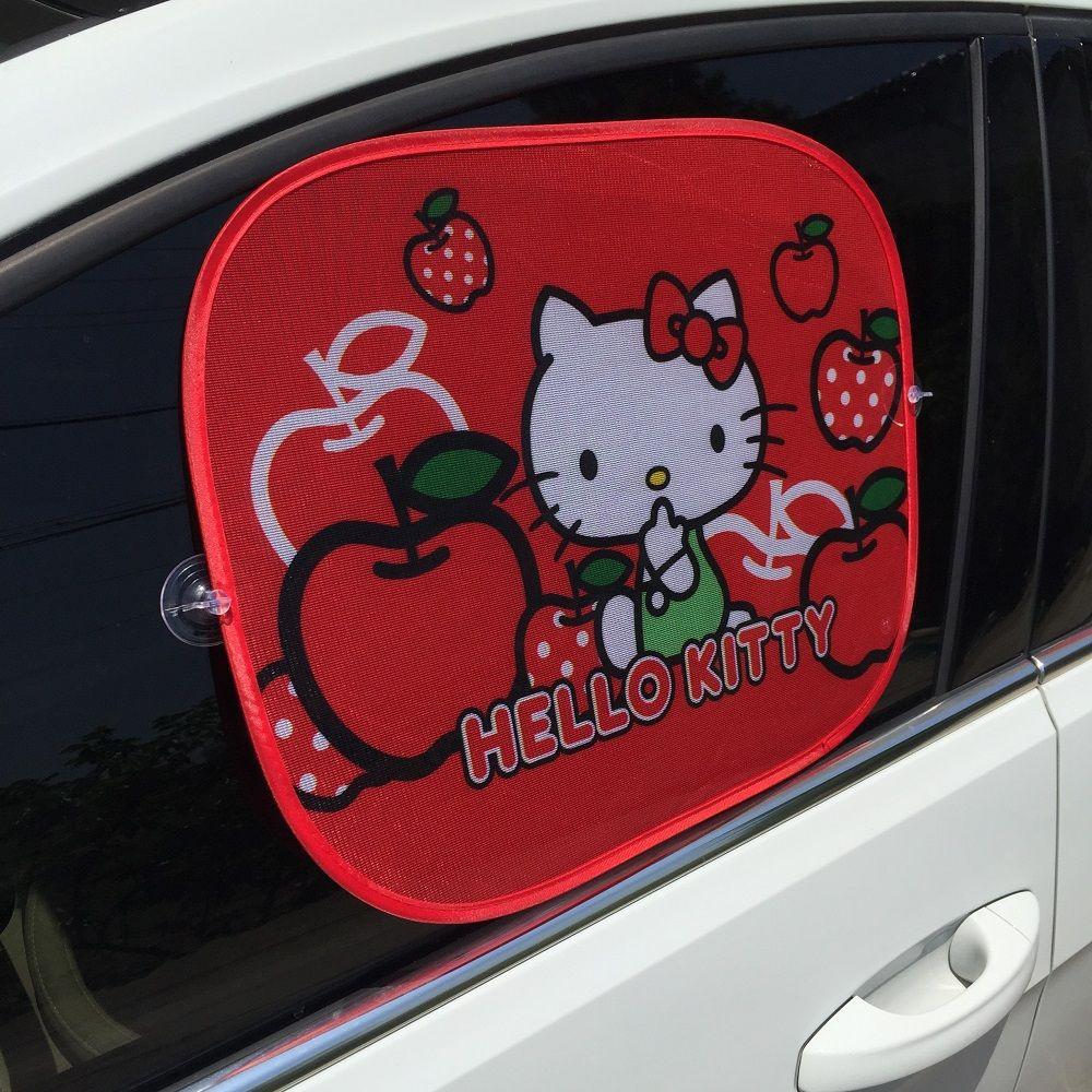 2pcs Red Hello Kitty Car Sun Shade Windshield Cute Cartoon Rear Side Sunshade Size 44cm 36cmprotect Window Film Car Styling Hello Kitty Car Hello Kitty Kitty [ 1000 x 1000 Pixel ]