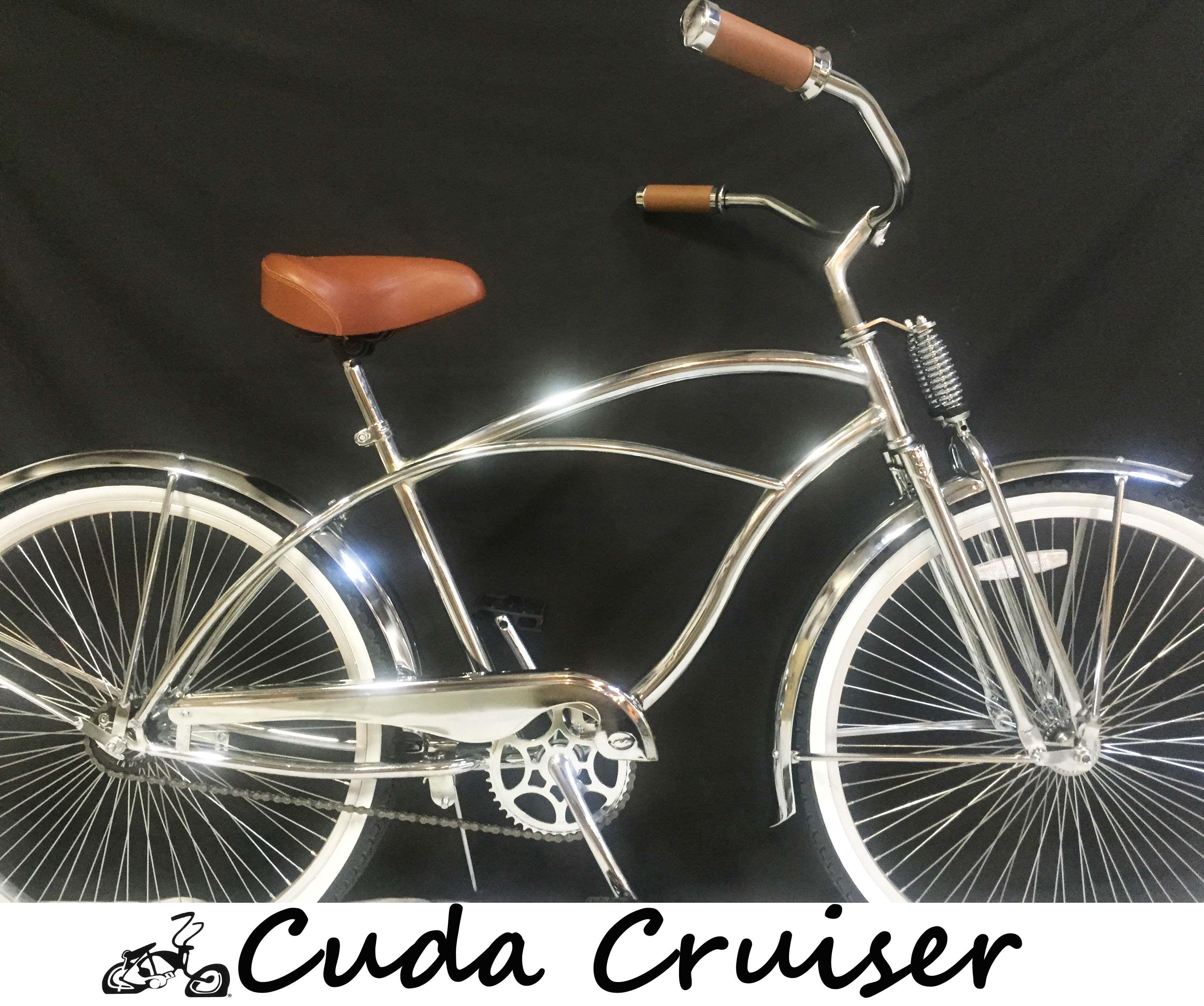 "Springer Bicycle Bike Fork with Spring Cruiser Chrome 26"" Beach Cruiser"