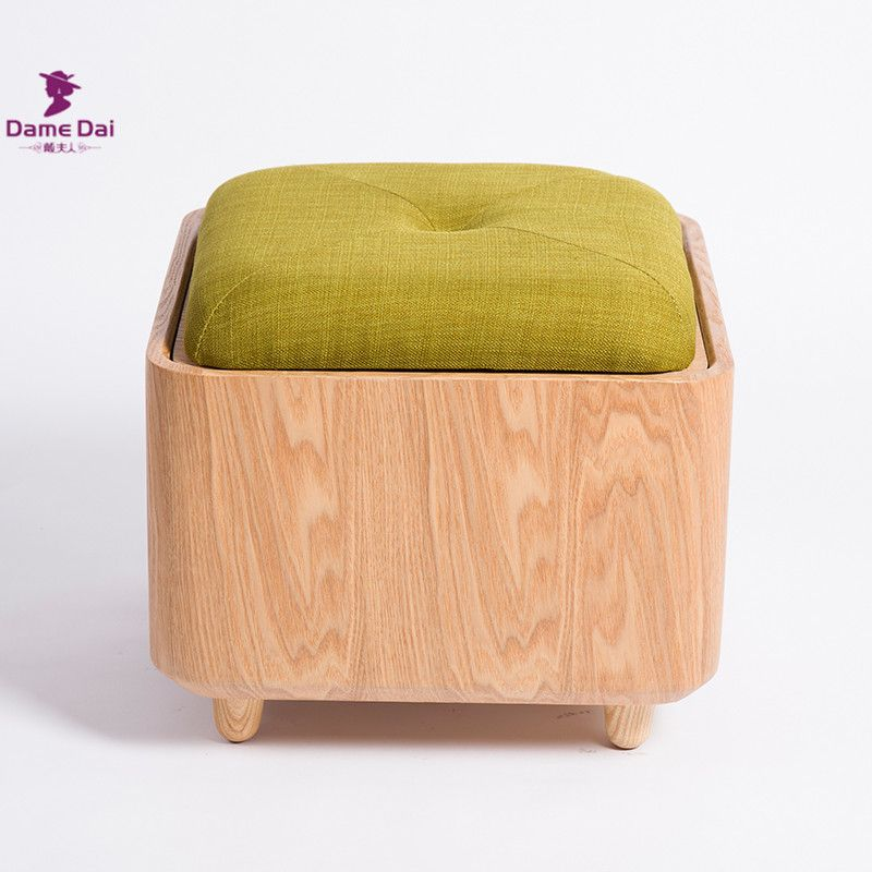 Surprising Soid Oak Wood Organizer Storage Stool Ottoman Bench Footrest Caraccident5 Cool Chair Designs And Ideas Caraccident5Info