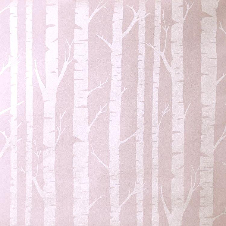 Tapete Baumstämme puder perlmutt u0027Oh La Lau0027 Baumstämme und Tapeten - bahir wohnzimmermobel design