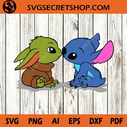 Baby Yoda And Baby Stitch Svg Yoda Svg Stitch Svg Starwars Svg