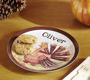 Personalized Thanksgiving Plate Pbkids Thanksgiving