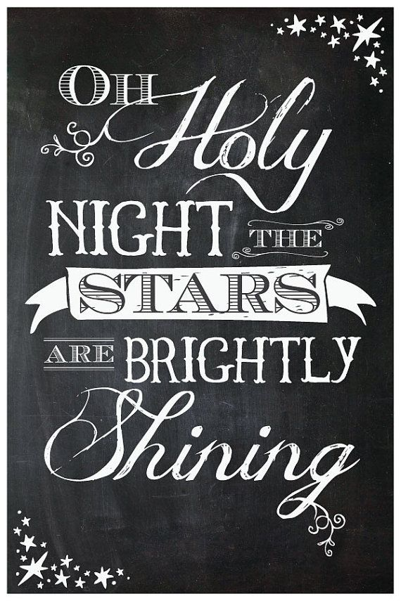 Oh Holy Night Poster By Itshueilove On Etsy It S The