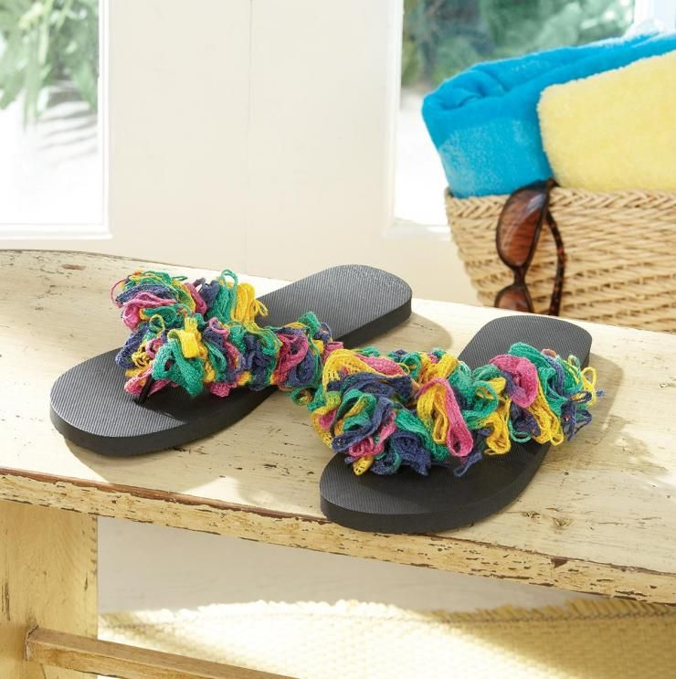 Ruffle Sandals -- need to figure out how to do this