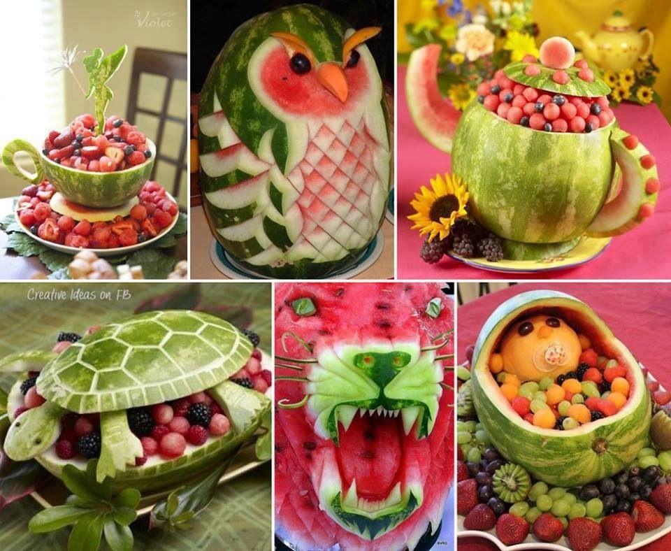 Cool watermelon carvings arte con fruta pinterest