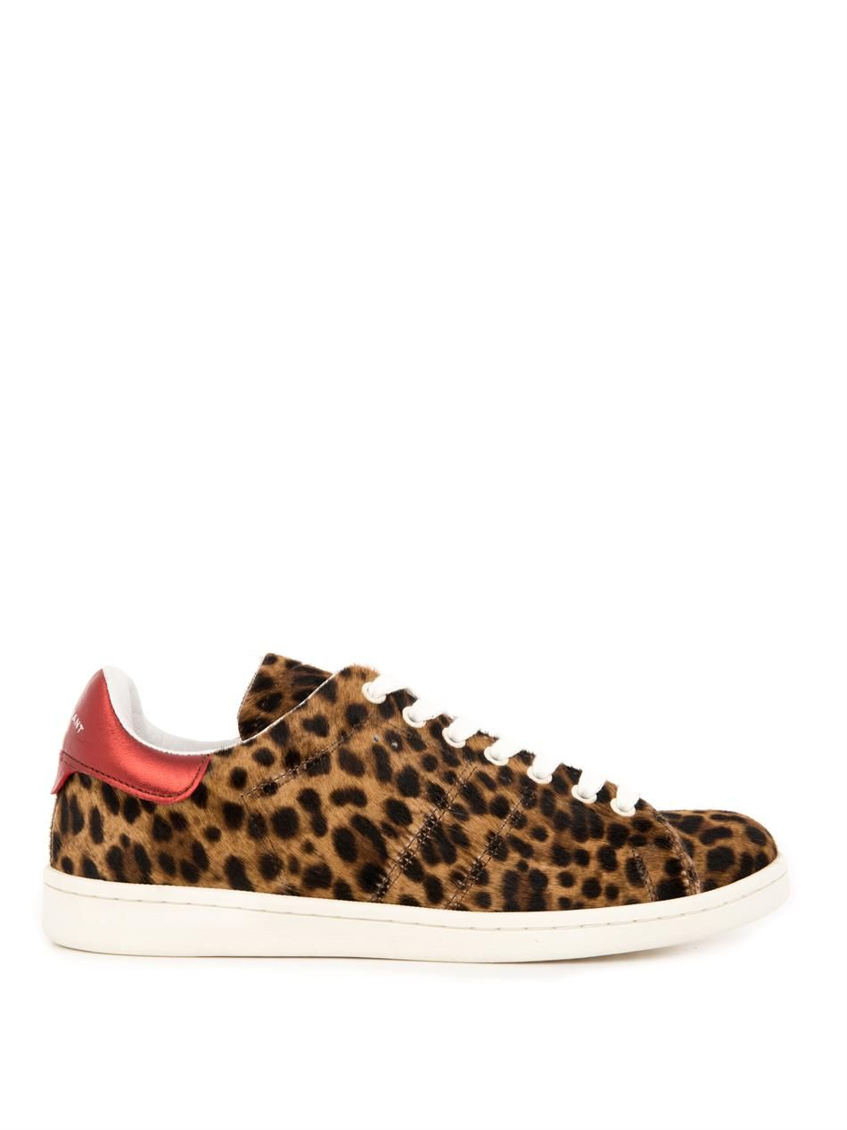 9a6eb76dbd0a Isabel Marant Bart calf-hair low-top trainers   Wish List   Isabel ...