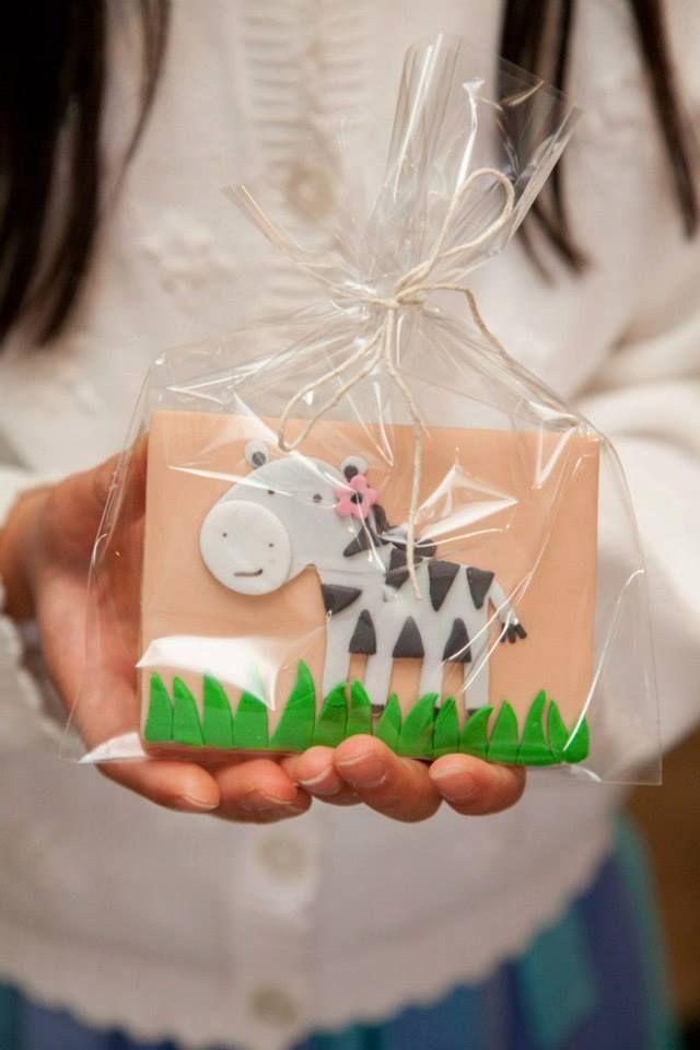 Jungle Safari Theme Birthday Party Cute Zebra Cookie