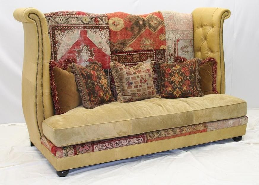 Tapestry Sofa Love The Patterns And Color Use Of Fabric For Back Its Like Upcycling