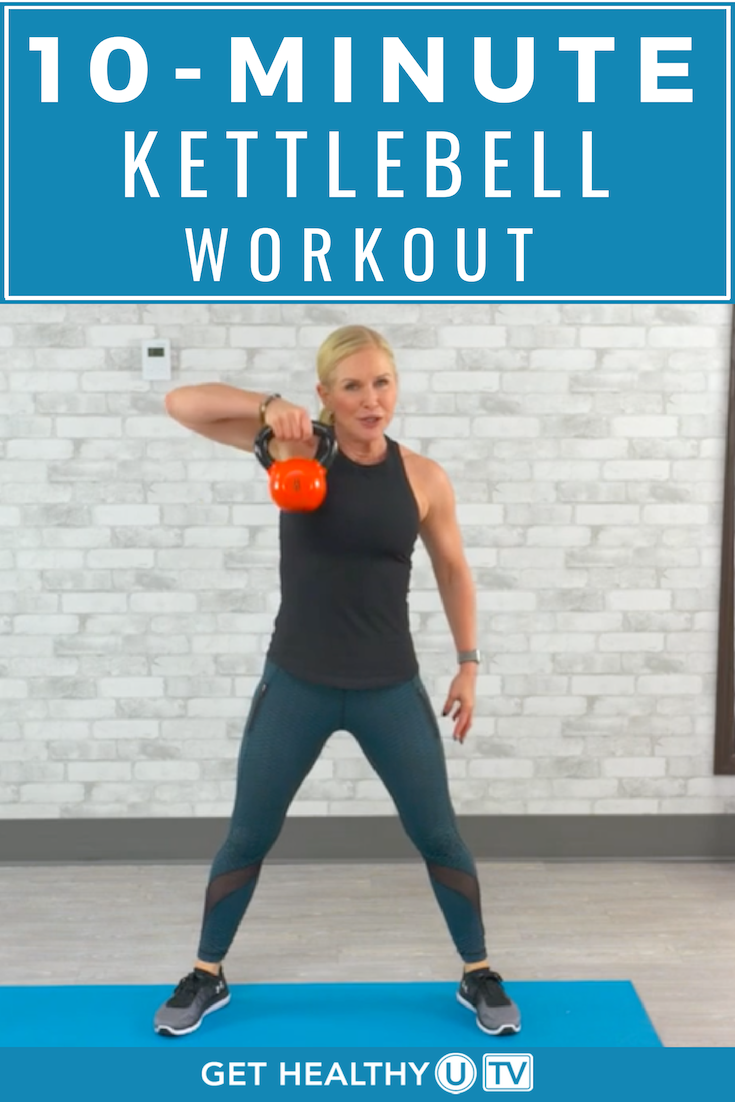 Try this 10-minute kettlebell workout when you want something quick & efficient that will torch calo...
