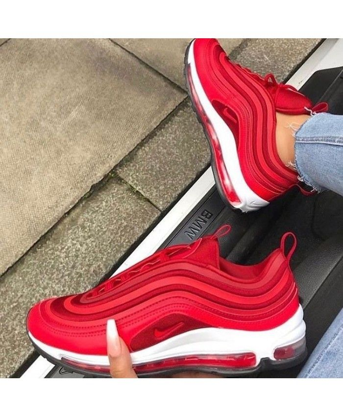 Nike Air Max 97 Ultra Gym Red Speed Red White Trainers With Images Air Max 97 Nike Air Max 97 Sneakers