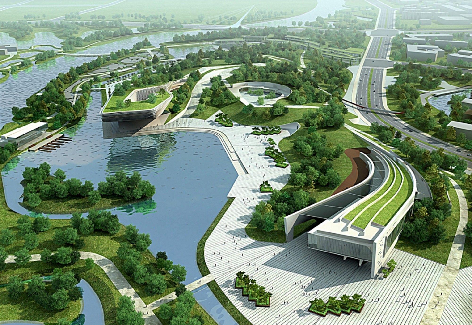 Industrial Green Park Google Search Architecture Design Process Futuristic Architecture Landscape Design