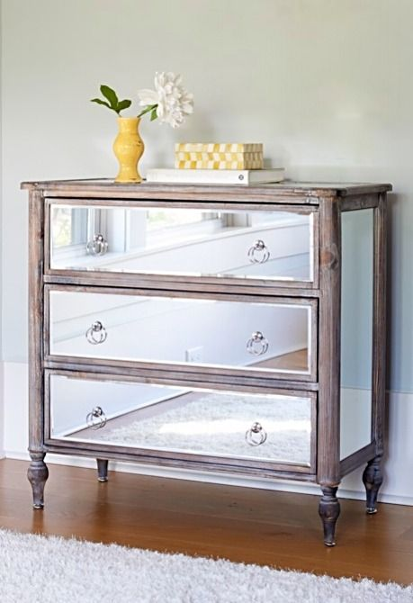 Marcella Mirrored Chest Mirrored Bedroom Furniture Mirrored
