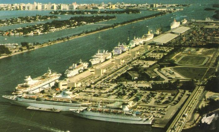 The Port Of Miami Circa Sm With These Ships In Port Bottom - Starward cruise ship