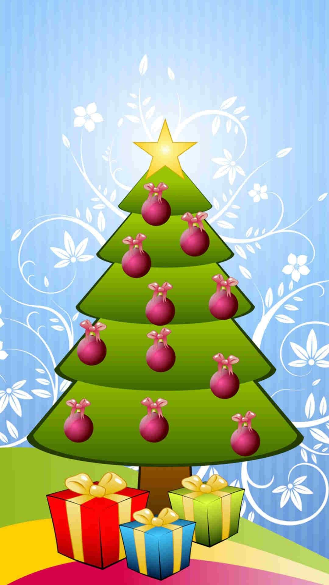 2015 Winter Most Stylish Christmas Tree Iphone 6 Plus Wallpaper Fashion Blog Cute Christmas Tree Christmas Tree Wallpaper Christmas Lockscreen