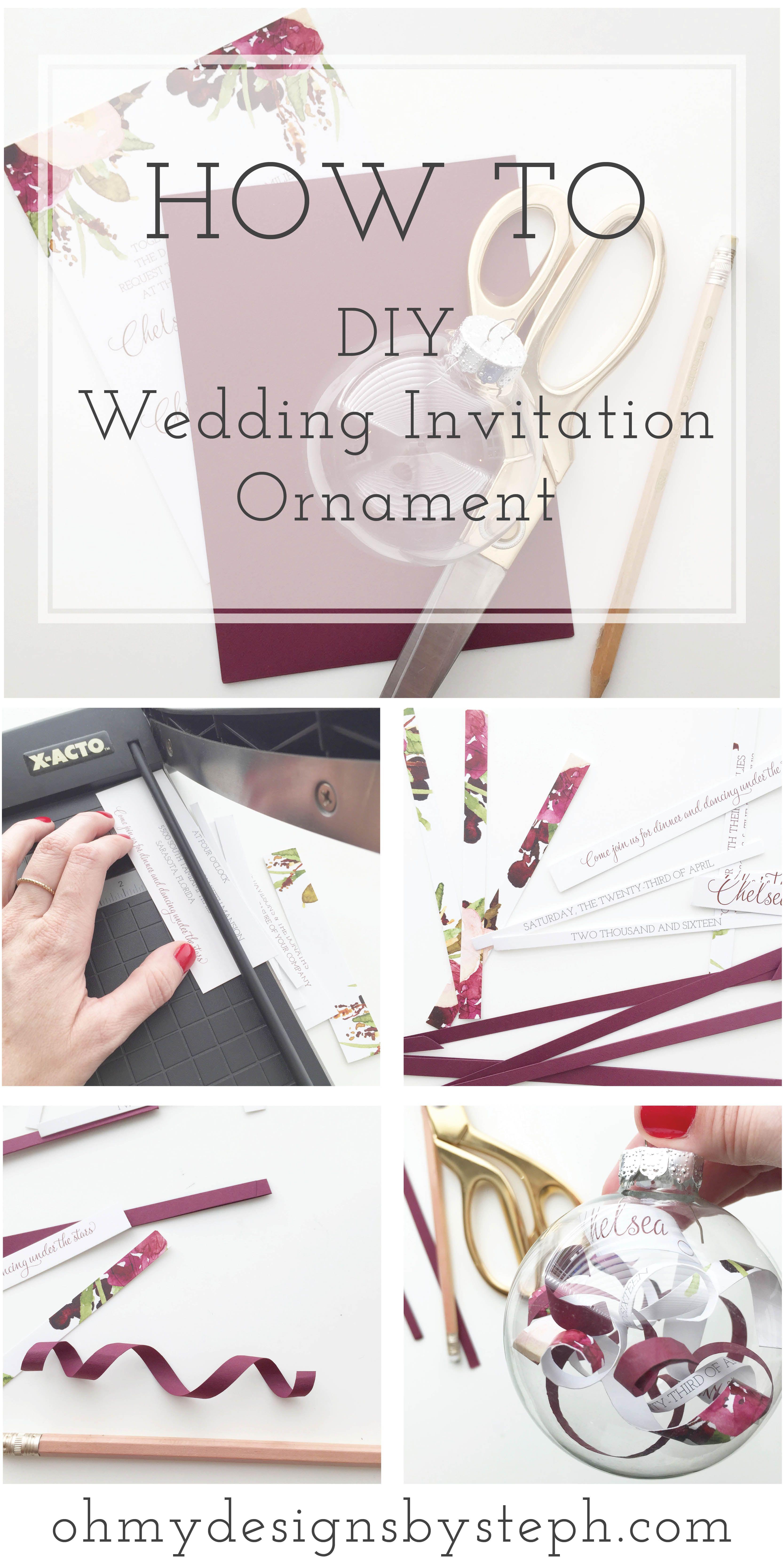 Wedding Invitation Ornament Diy Tutorial