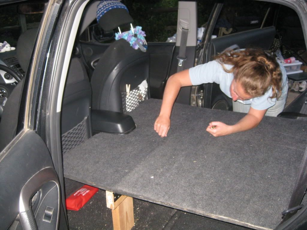 Has anyone built a car bed inside their Rav4 for camping? - Toyota RAV4 Forums | Hiking