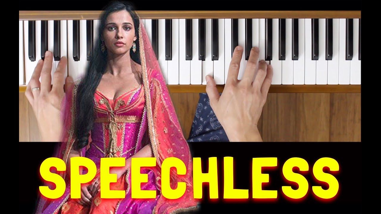 Speechless Naomi Scott Piano Tutorial Easy Piano Tutorial