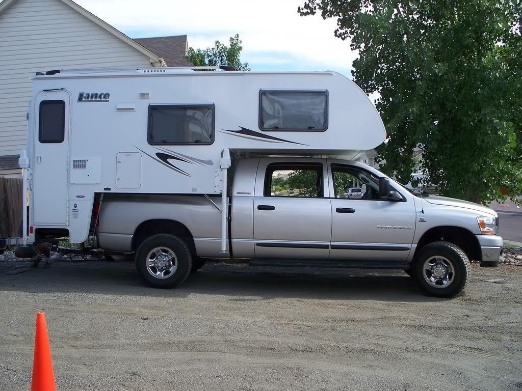 truck campers Lance 830 on a Dodge MegaCab pickup