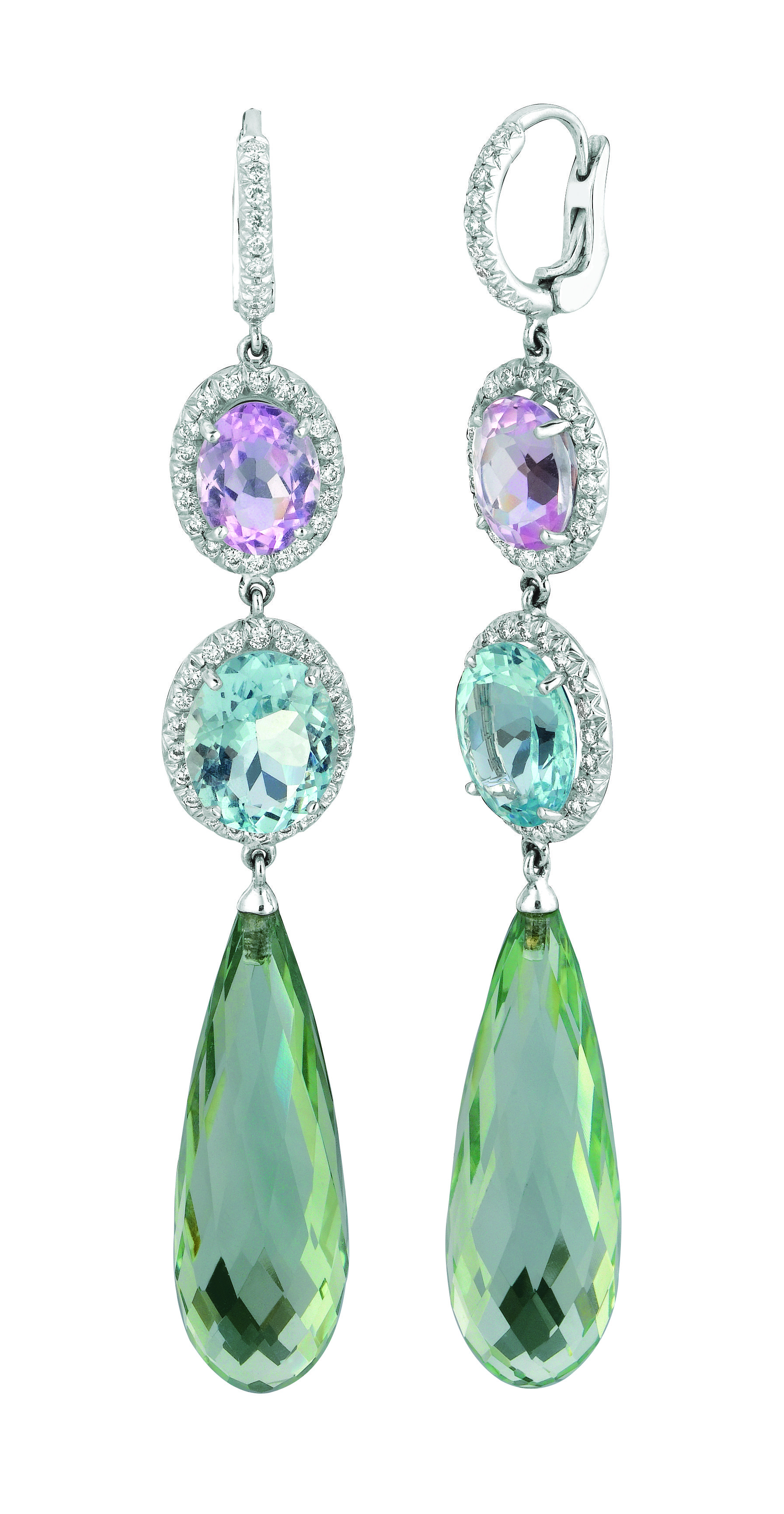 and en diamond bukowskis bukobject earrings pair cut brilliant lots fullsize kunzite of a