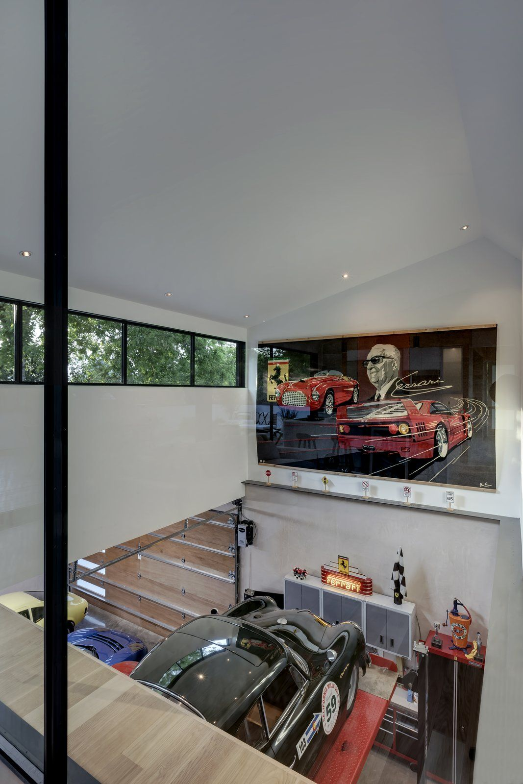 This Austin Home Was Designed To Showcase A Vintage Car Collection Austin Homes Architecture Design