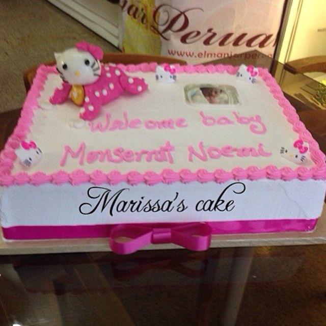 Captivating Baby Hello Kitty Baby Shower Cake. Visit Us Facebook.com/marissau0027scake
