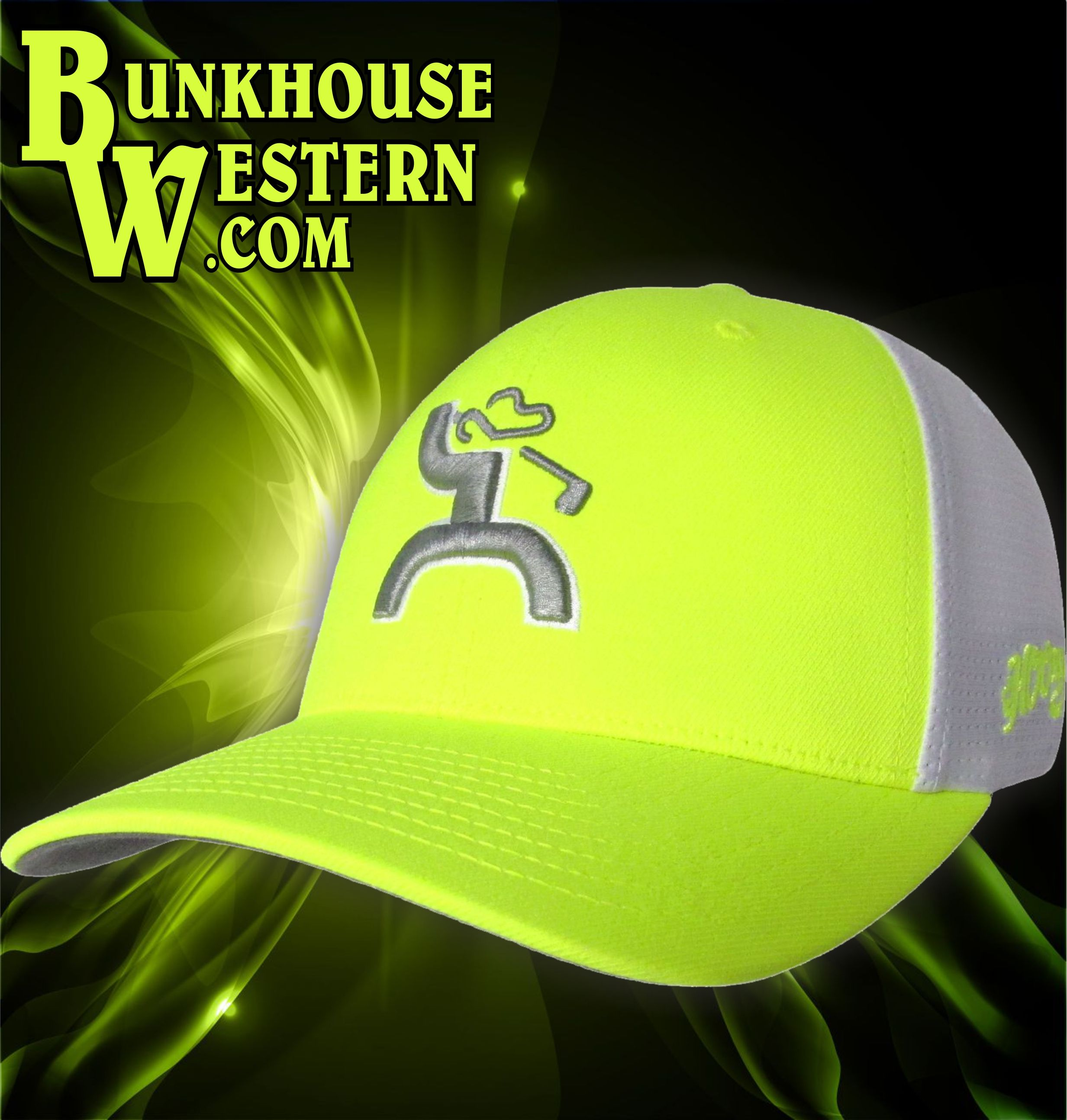 48e7bbdd ... australia getyourhooey trap neon green hooey golf cap flexfit  breathable back 97fad 0451c