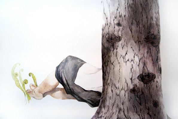 Kati Immonen Metsän sylissä, 2015 watercolor