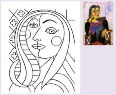 Ünlü Ressamların Tablolarının Boyama Sayfaları - Okul Öncesi Etkinlik Kütüphanesi - Madamteacher.com