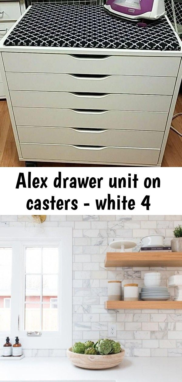 Alex drawer unit on casters - white 4 #swisscoffeebenjaminmoore