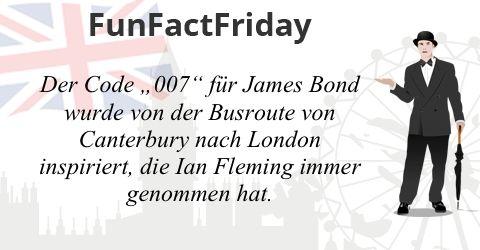 """#FunFactFriday bei THE BRITISH SHOP: Der Code """"007"""" für James Bond wurde von der Busroute von Canterbury nach London inspiriert, die Ian Fleming immer genommen hat.  © ojal - www.kozzi.com; © leonido - www.kozzi.com; © kiddaikiddee - www.kozzi.com"""