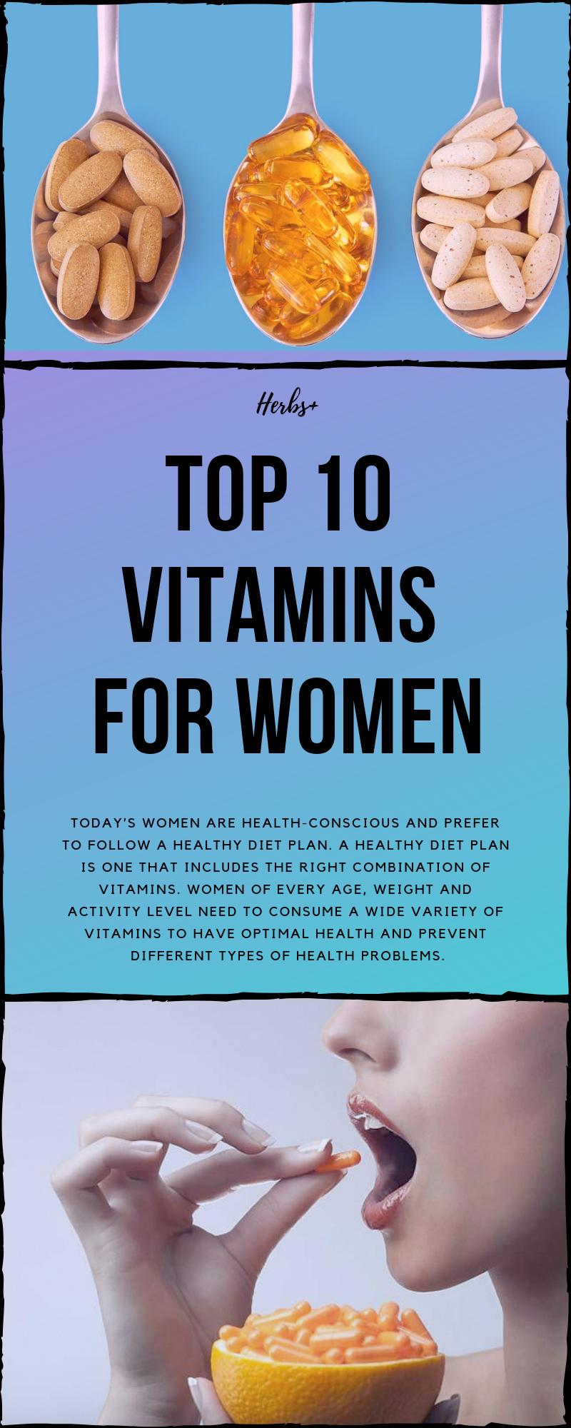 Top 10 Vitamins For Women #vitamins