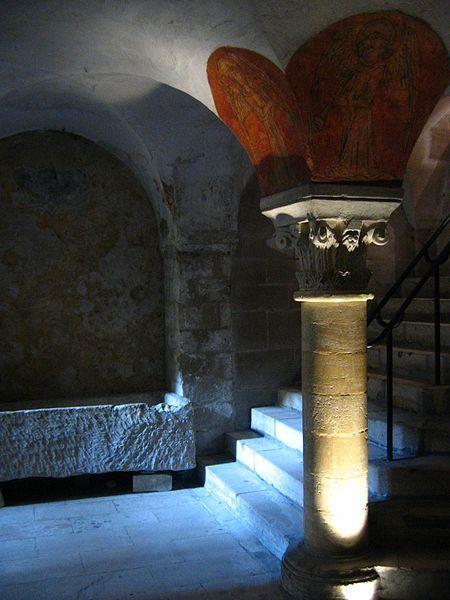 The crypt beneath Blackfriar's Abbey