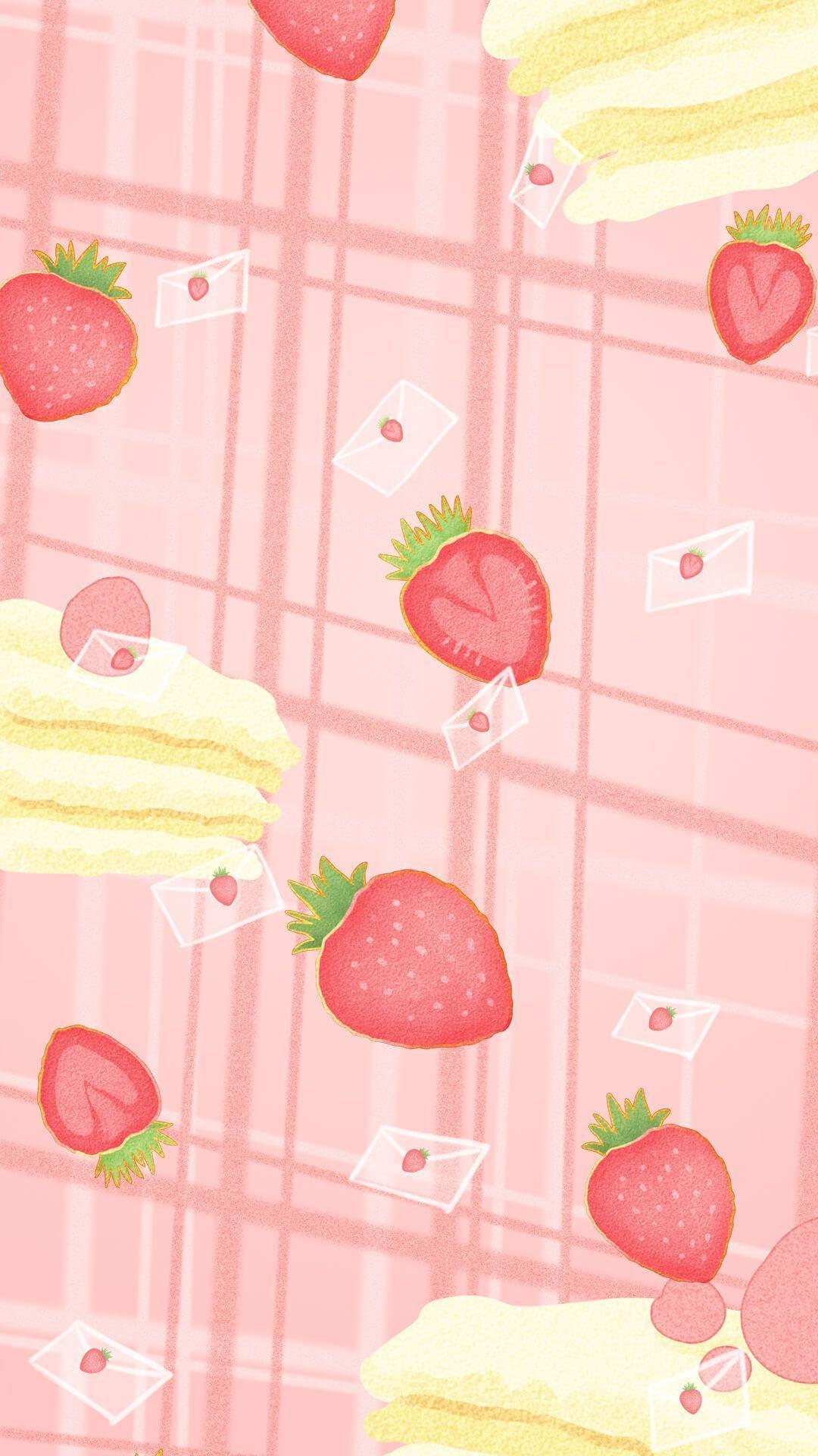 Strawberry Wallpaper Wallpaper Iphone Cute Soft Wallpaper Iphone Background Wallpaper