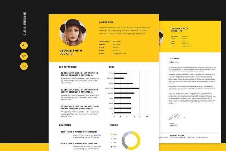 50 Best Cv Resume Templates 2020 Cv Resume Template Best Resume Template Resume Design Template