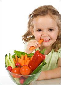 meisje met groenten