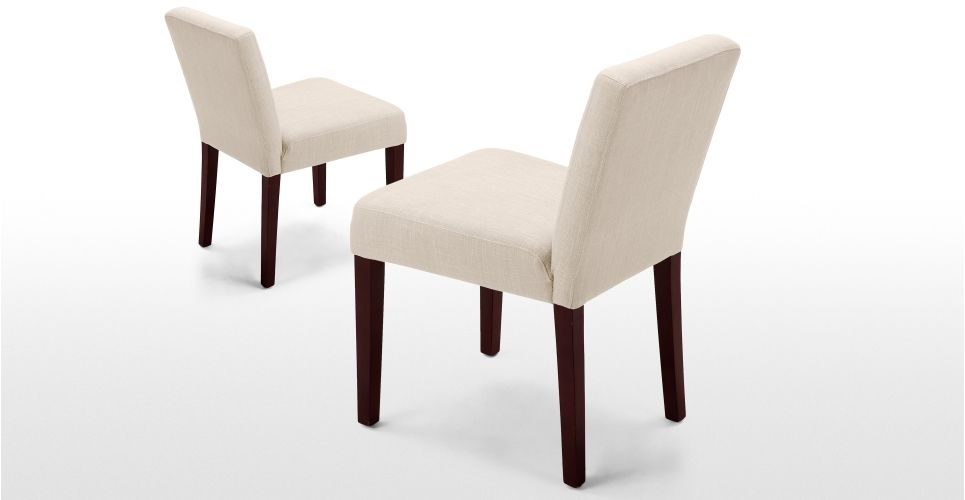 Pair Of Wilton Dining Chairs In Biscuit Beige Made Com Decor