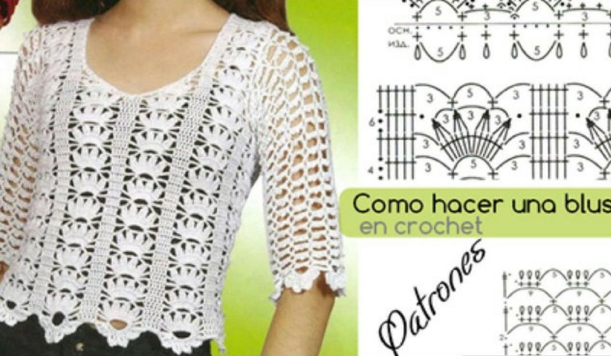 Cómo Hacer Bonitas Y Elegantes Blusas A Crochet Para Damas Con Estos ...