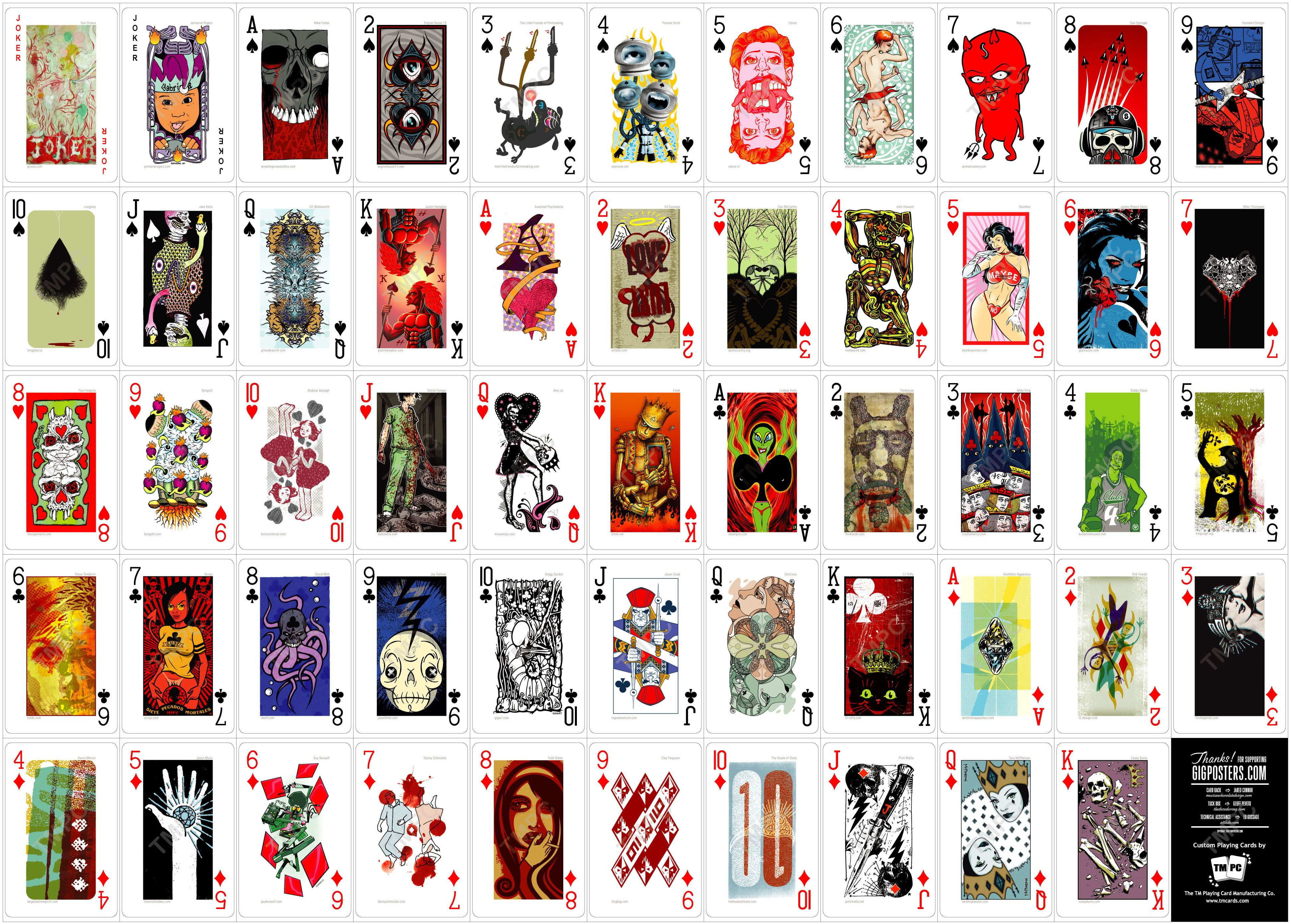 deck of cards designed by various artists available 2 http www