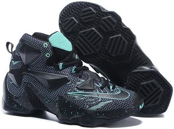 hot sale online 9b0c7 2f376 Lebron 13 Shoes Light Green Black