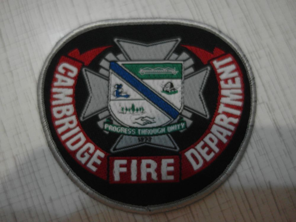 Patch fire, Cambridge  fire department, Ontario, Canada, Rarity