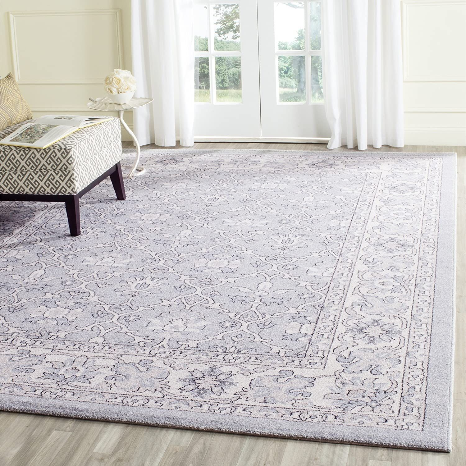 Safavieh Carmel Collection Car276c Vintage Oriental Light Blue And Ivory Area Rug 9 X 12 Home Kitchen In 2020 Area Rugs Lavender Area Rug Traditional Area Rugs