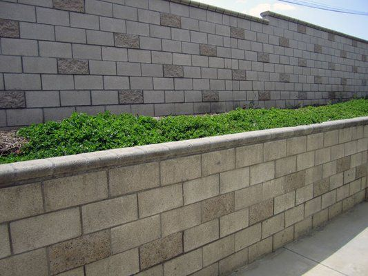 Block walls provide a strong foundation and resemble for Block wall foundation