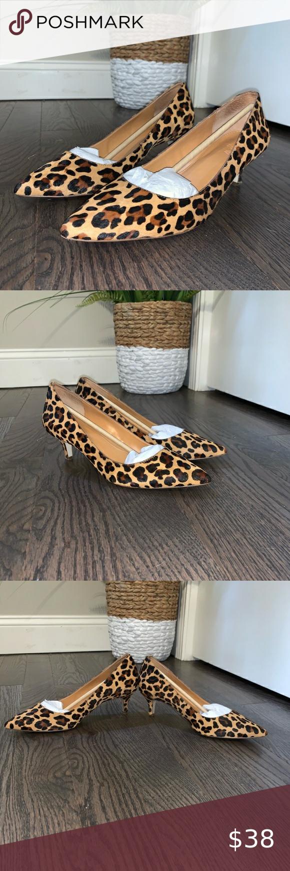 J Crew Leopard Print Kitten Heels In 2020 Kitten Heels Shoes Women Heels Heels
