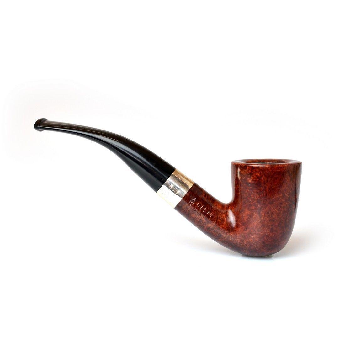 Pipa Savinelli Silver liscia 611ks 611 ks curva italian briar pipe ...