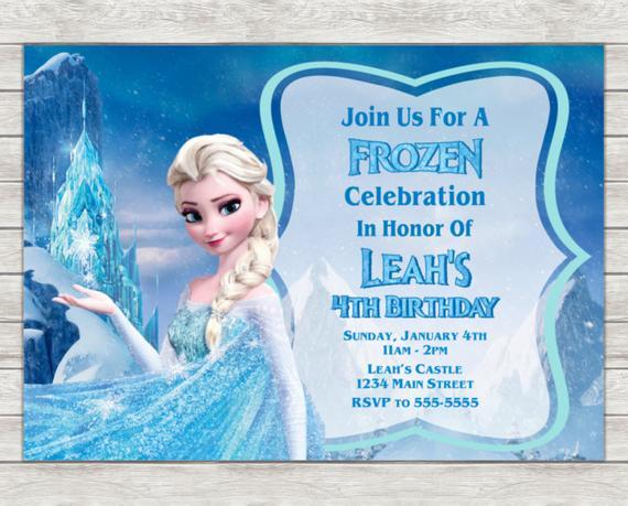 Elsa Birthday Invitation Frozen Party